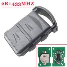 高品質 (5 ピース/ロット) 2 ボタンリモコンキー 433 オペル · コルサ C 用コンボ B Meriva で A