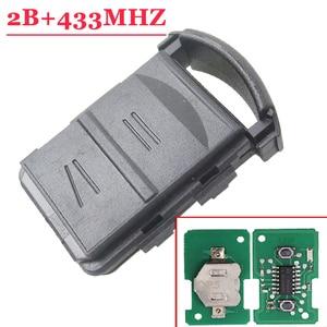 Image 1 - Wysokiej jakości (5 sztuk/partia) 2 przycisk zdalnie sterowany klucz 433MHZ dla Opel Corsa C Combo B Meriva A