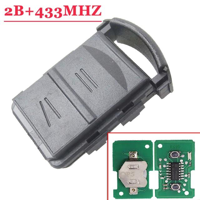 Wysokiej jakości (5 sztuk/partia) 2 przycisk zdalnie sterowany klucz 433MHZ dla Opel Corsa C Combo B Meriva A