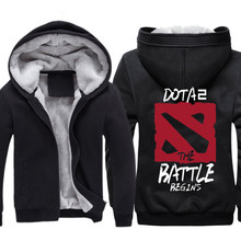 Berber fleece winter cotton-padded jacket dota2 plus velvet thickening sweatshirt knife with a hood clothes thickening