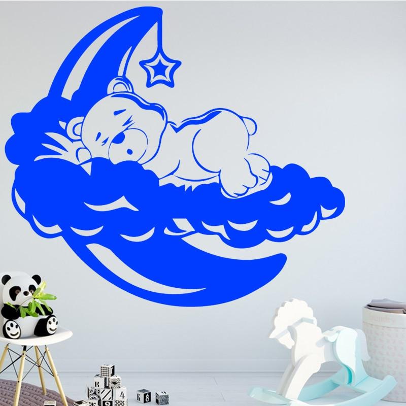 sleeping bear wall art decal wall stickers material diy mural art