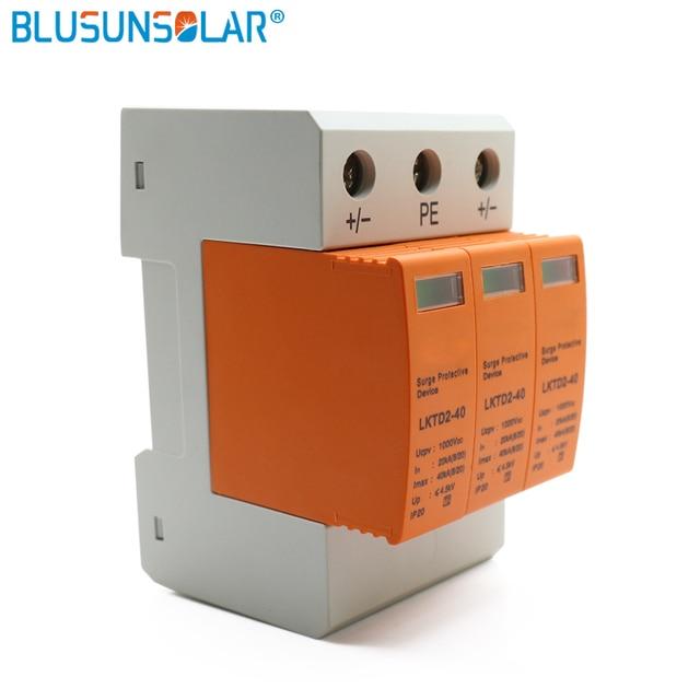5 peças/lote 3p dc 1000v 20 4040ka din trilho dispositivo de proteção contra surtos casa solar sistema fotovoltaico prendedor solar