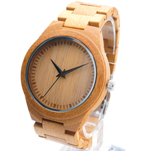 BOBO BIRD New Men's Luxulry Top Brand Design Watches Colorful Hands Wood Wristwatches for Men Customized Bamboo Wooden Watches