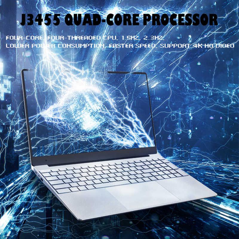 15.6 אינץ מחשב נייד עם תאורה אחורית מקלדת 8GB RAM DDR4 1TB 512G 256G 128G SSD מחברת מחשב Win10 Intel J3455 IPS Ultrabook