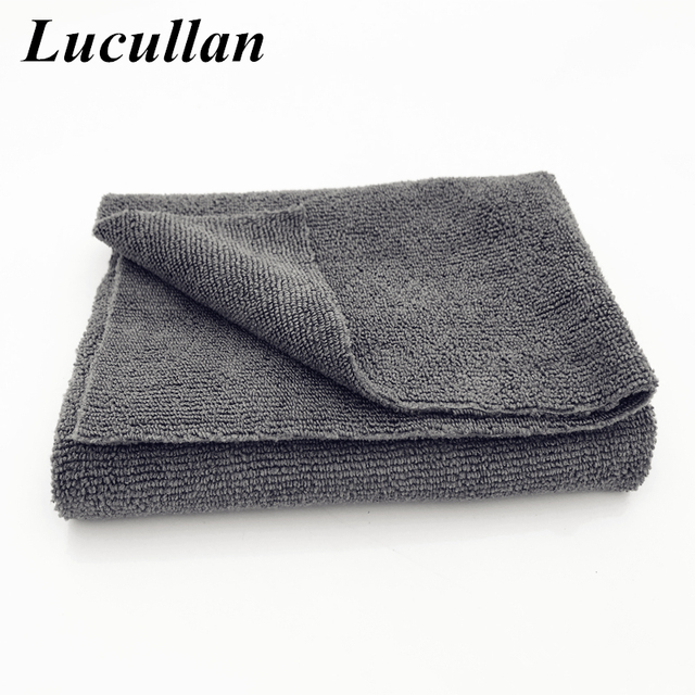 Lucullan Improved Straight Edgeless Cloth No Scratch For Coating, Waxing, Detailing 40X40CM 300GSM Microfiber Towels