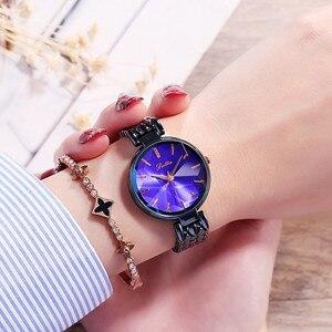 Image 5 - スーパー高級ダイヤモンド女性の腕時計レディースエレガントカジュアルなクォーツ腕時計女性ステンレス鋼ドレス腕時計時計女性のギフト