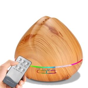Image 5 - Diffuseur 500ml humidificateur dair arôme diffuseur dhuile essentielle aromathérapie Hmidificador 7 LED qui change de couleur veilleuse