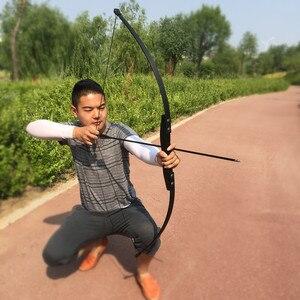 Image 2 - Profissional 30/40lbs arco recurvo para a mão direita de madeira arco ao ar livre tiro com arco caça acessórios esportes cego & árvore