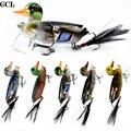 CCLTBA приманка для окуня  рыболовные приманки 7 см  10 г  Перо хвоста  плавающая утка  плавающая  плавающая приманка  как воблер  утенок  рыболовн...