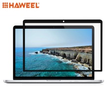 HAWEEL 0.3mm 6H Surface Hardness HD Scratch-proof Full Screen PET Film for MacBook Pro Retina 13.3 inch (A1425 / A1502)(Black) a1425 99%new lcd display screen assembly for macbook pro 13 a1425 retina complete full