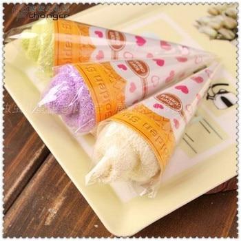New fashion Mini ice cream cake towel 20*20cm Square Towel Cake 100% cotton Wedding Birthday Favors gifs free shipping
