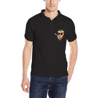 New Fashion buttrock pizza Mens Polo Shirt Golfs CrossFit Cotton Solid Summer Polos Tee Custom