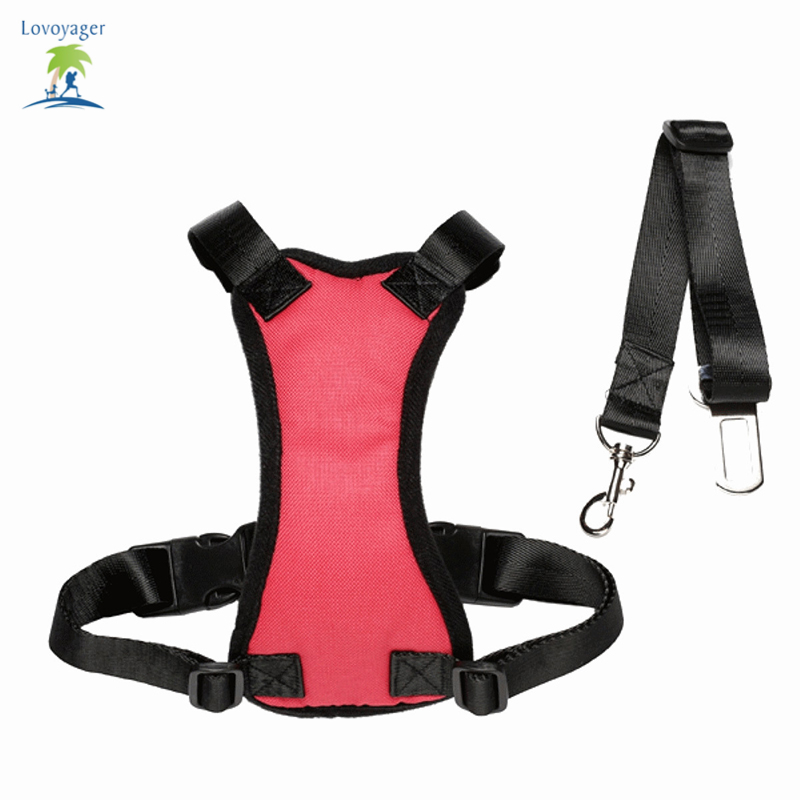 lovoyager safety dog harness dog soft nylon mesh dog car. Black Bedroom Furniture Sets. Home Design Ideas