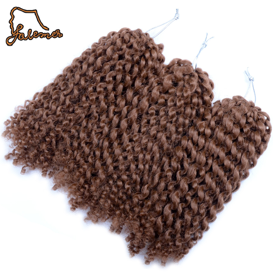 FALEMEI 3pcs/Set 90g/Set Curly Braid hairstyle for Black Women Synthetic Hair Crochet Bahamas hair extension Crochet hair Twist