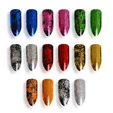 1Box 0.2g Chameleon Starry Sparkly Colorful Powder Ultra-thin Nail Glitter Polish Vtirka New DIY Art Pigment