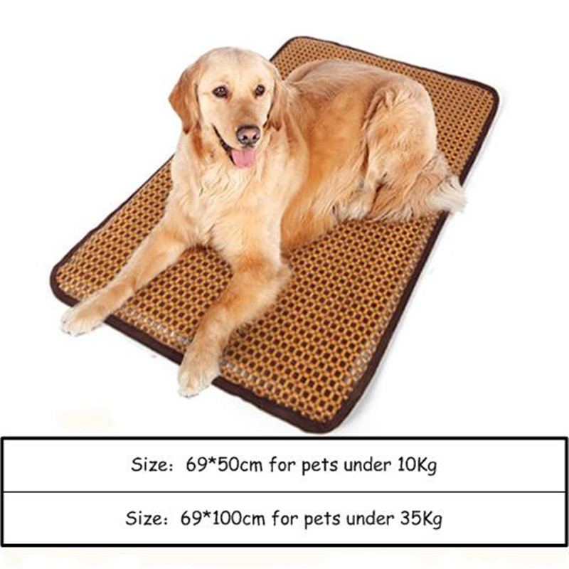 Dog Mat, Animal Bed, Rattan Material, Cool But Not Ice, Non Removable Mat, Sleeping Mat, 2 Sizes Optional