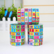Купить с кэшбэком Educational Math Toy Twist Magic Cube Early Learning Toys for Children Baby Toys Magic Tube Math Puzzles