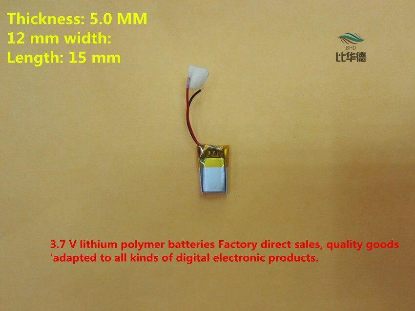 a67e12b77 Bateria de polímero de lítio 50 mah 3.7 V, 501215 051215 pode ser  personalizado por atacado CE FCC ROHS MSDS certificação de qualidade
