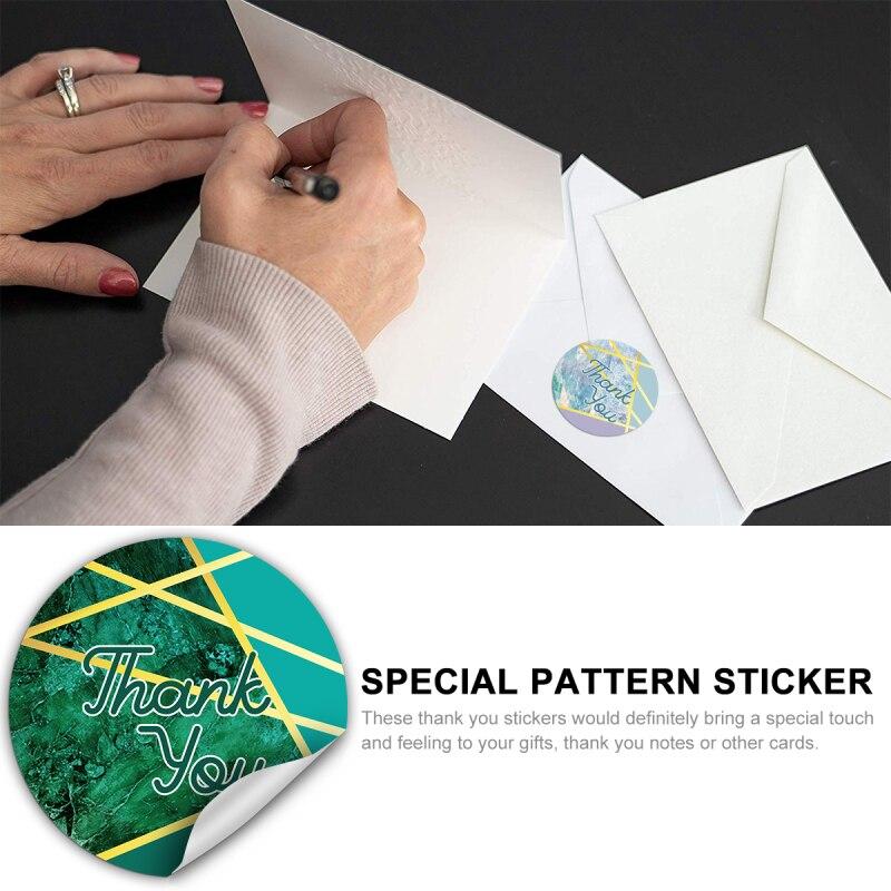 Купить с кэшбэком 600PCS Round Labels Marble Design Thank You Sticker Roll Envelope Decorative For Baby Shower Wedding Favor Personal Business Use