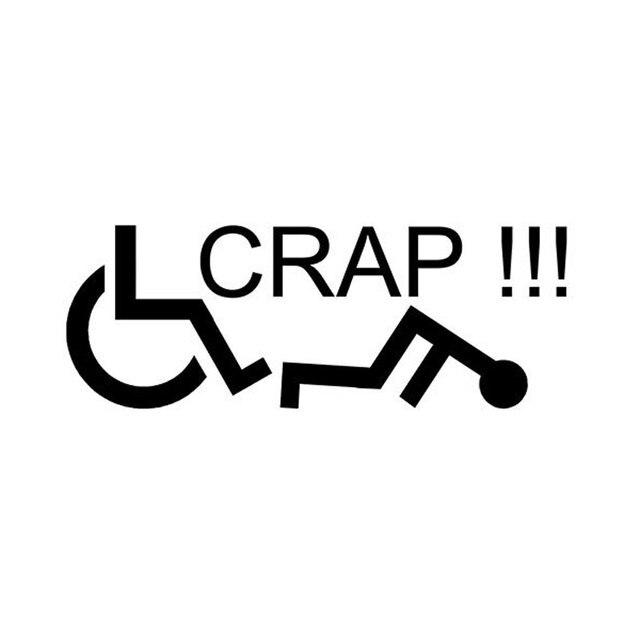 15 2cm5 5cm car styling wheelchair crap funny vinyl decals sticker c5 1101