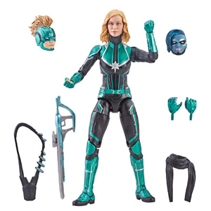 Image 5 - Marvel Avengers Endgame Legends Series Captain Marvel Head Can Be Changed PVC Action Figure Collectible Model Dolls Toy For Kids