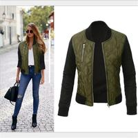 Europe And The United States Autumn And Winter New Solid Color Fashionable Zipper Jacket Cotton