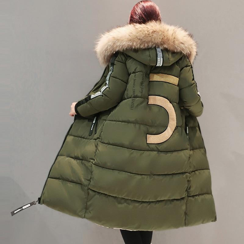 2017 gris Long army Mince Hiver Fourrure Veste Parkas Size Ouatée Manteau Green Col Femelle Capuche De 6xl Plus Outwear Coton Femmes Noir À Yp0406 Chaud New wtnXqgSS