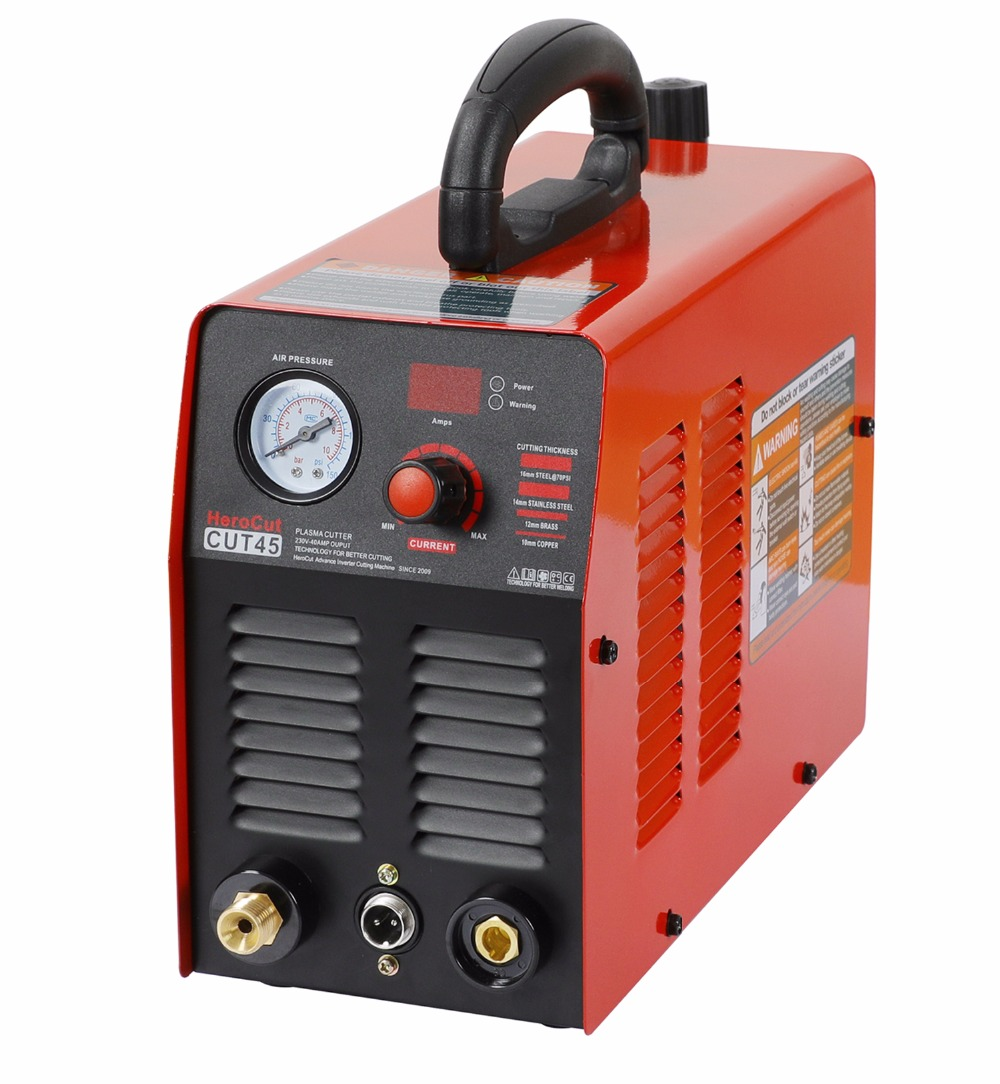 Plasma IGBT Air Cutter Machine CUT45i Cutting Video 220V Clean 12mm HeroCut Cutting Plasma