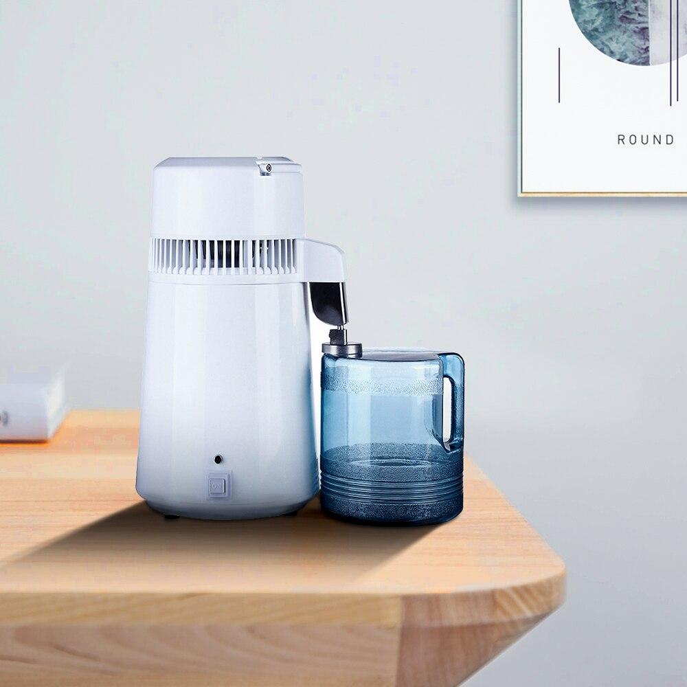 Acier inoxydable distillé d'équipement d'épurateur de Distillation de Machine de filtre à eau de distillateur de l'eau dentaire Pure de 4 ménages avec la cruche