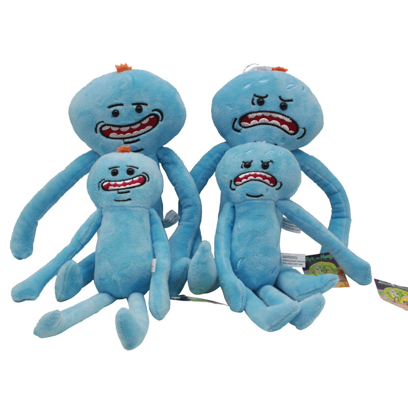 2pcs/lot 28cm Rick and Morty Happy Sad Mr. Meeseeks Stuffed Plush Toys Doll Soft Toy for Kids Children Christmas Gifts image