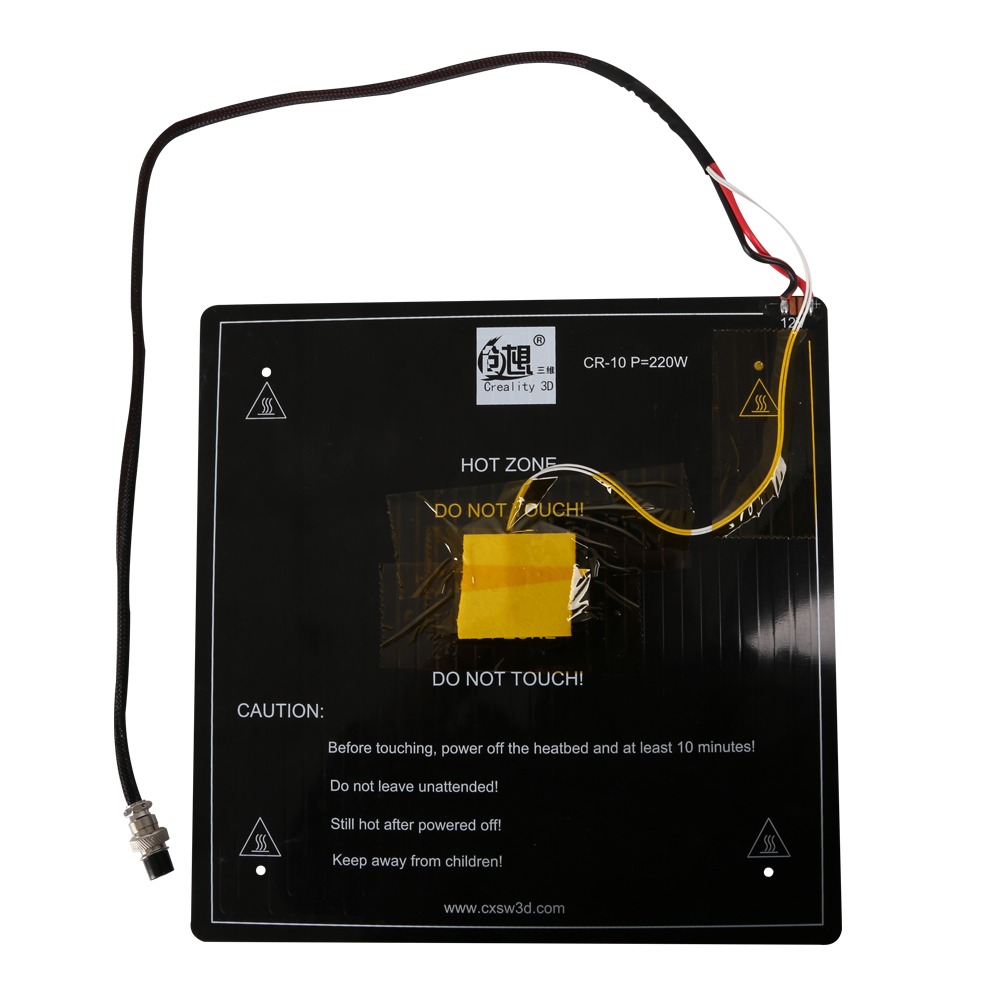 3D Printer Parts Black MK3 Hotbed Latest Aluminum Heated bed 12V for CR 10 CR 10s