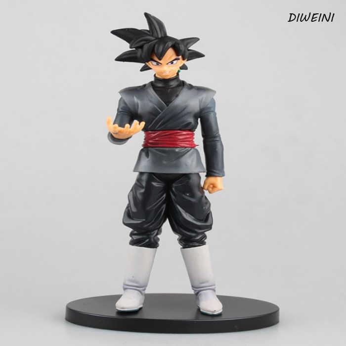 Hot Sale 1 pçs/set Anime Dragon Ball Super Goku Ação PVC Figura Coleção Modelo Brinquedos Boneca Preta