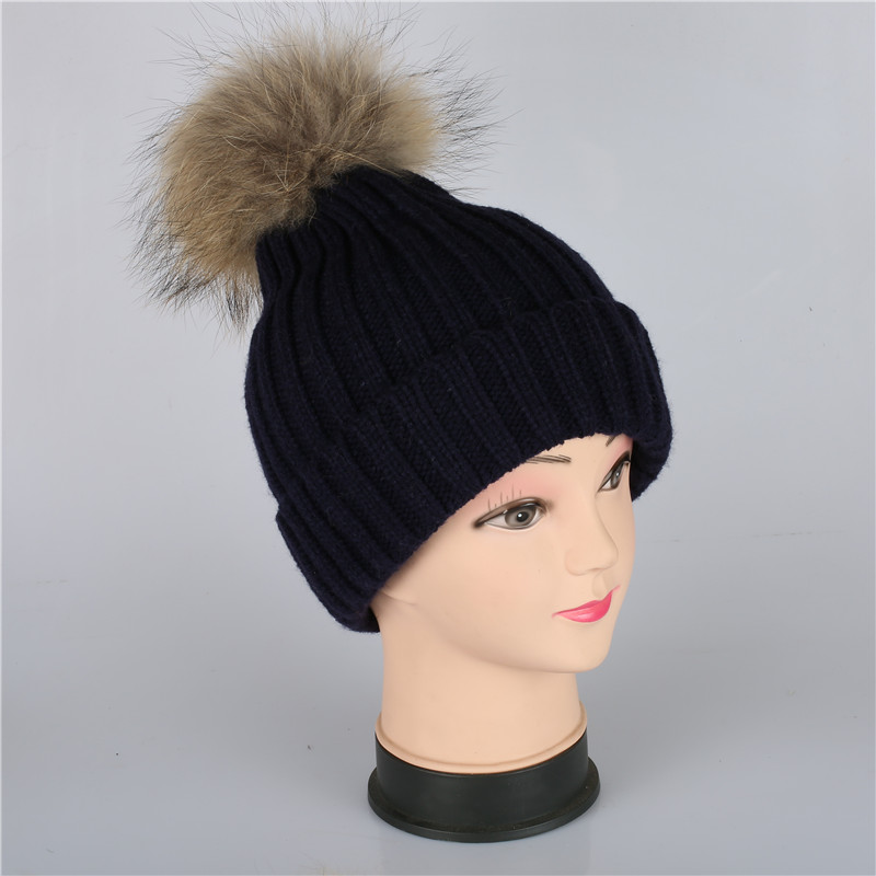XUYIJUN mink fur ball cap pom poms winter hat for women girl 's wool hat knitted skullies beanies hats brand thick female cap 2016 real mink solid adult pom poms knitted hat ball beanies winter for women girl s wool skullies brand new thick female cap