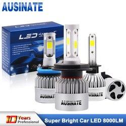 Faro Led Turbo H1 para coche H4 bombillas Led de haz alto/bajo COB Chips H3 H7 H8 H9 H11 H13 HB3 HB4 H27 luz antiniebla LED 6500K 72W 8000LM