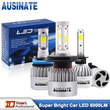 Turbo H1 Led Car Headlight H4 High/Low Beam Led Bulbs COB Chips H3 H7 H8 H9 H11 H13 HB3 HB4 H27 LED Fog Light 6500K 72W 8000LM
