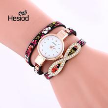 Hesiod Brand New Women Watches Statement Quartz-watch Multilayer Crystal Fashion Ladies Bracelet Watches Women Wristwatches