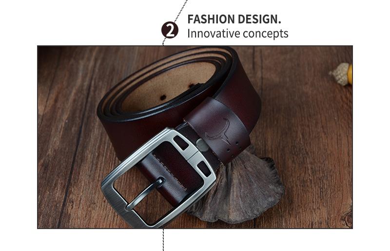 حزام COWATHER جلد طبيعي للرجال 12
