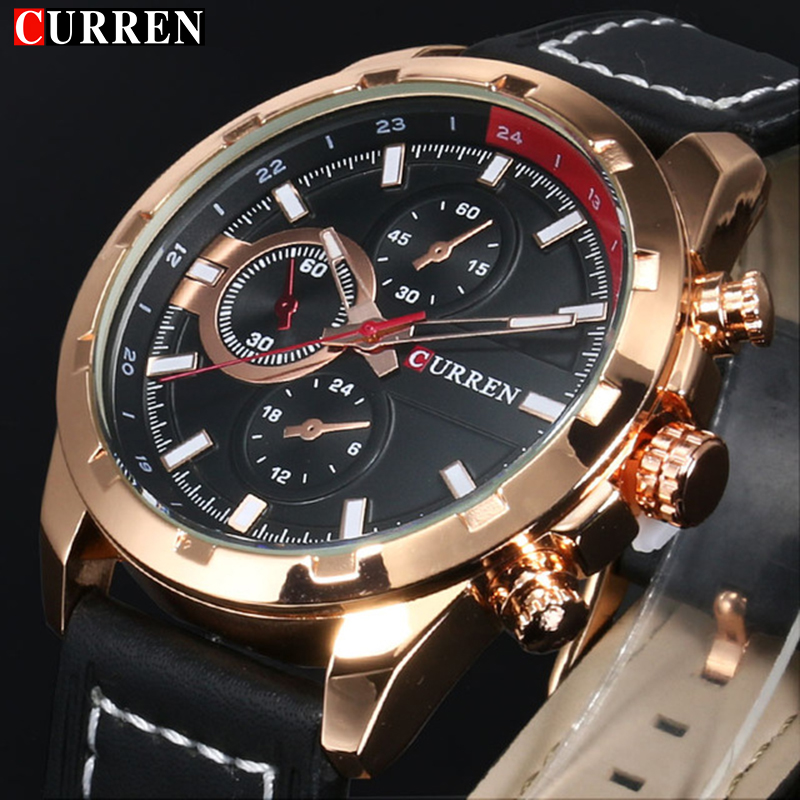 CURREN Quartz Watch Men Watches Top Brand Luxury Famous Wristwatch Male Clock Wrist Watch Luminous watch Relogio Masculino 8216 quartz watch men doobo wrist mens watches top brand luxury famous wristwatch male clock simple quartz watch relogio masculino