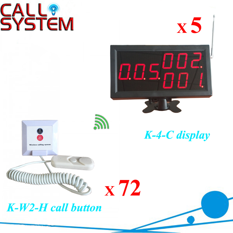 Hospital Electronic nurse paging system include 5 monitors 72 patient bell buzzer  hospital nurse call system 1 desktop lcd receiver 5 patient bell paging service shipping free