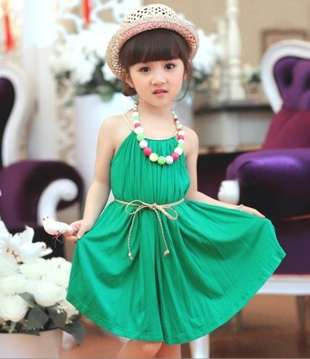 9d1094214 kids Girls summer beach dress children modal Dress