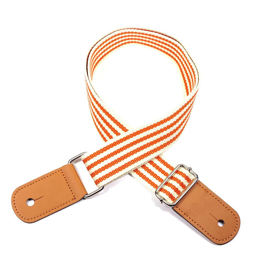 Fashion Stripes Guitar Ukulele Strap 105cm Adjustable Durable Polyester Little Guitar Belt Straps Musical Instrument Accessories