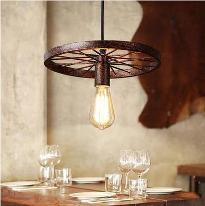 Modern industry wheel design iron art Pendant Lights European classical do-old color E27 LED lamp for bar&cafe&corridor ZLDD090 mp620 mp622 mp625 projector color wheel mp620 mp622 mp625