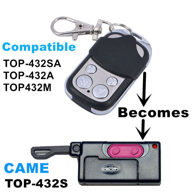 433 copie CAME TOP 432S duplicateur 433.92 mhz télécommande universelle porte de Garage porte Fob Clone à distance 433mhz code fixe