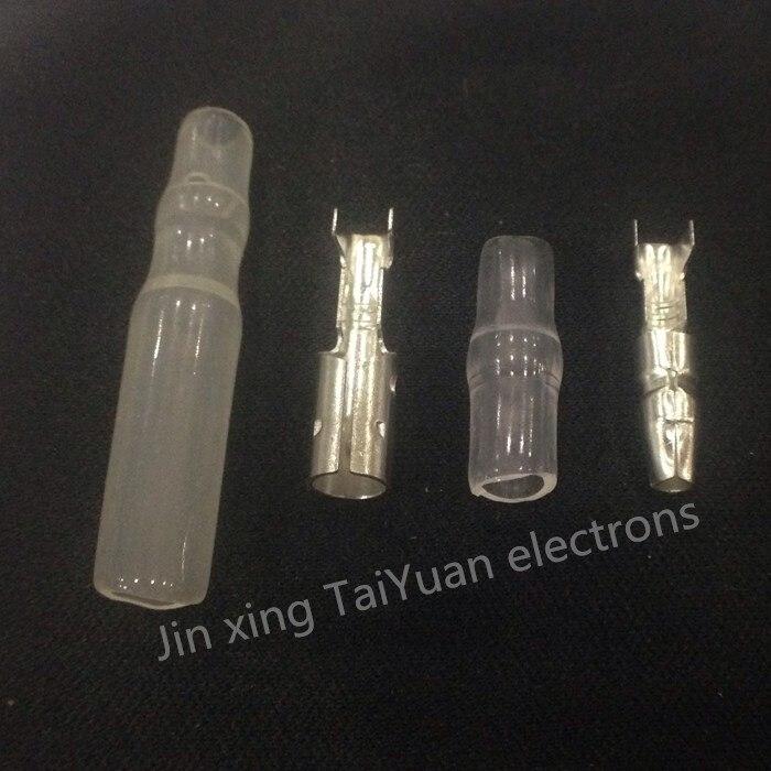 4.0 пуля терминал автомобиля электрический провод разъем диаметром 4 мм Pin набор 50 Sets = 200 шт. Женщина + Мужчина + кейс…