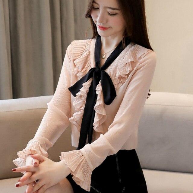 64da1ccdf06 201 new Satin Shirt Women Long sleeve peter pan collar silk Blouses women  work wear uniform