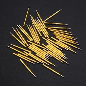 Image 3 - 50pcs Spring Pressure Test Probe Pogo Pins P75 B1 Needle Tube Dia 1.02mm Gold Thimble for Conductive Test Tools