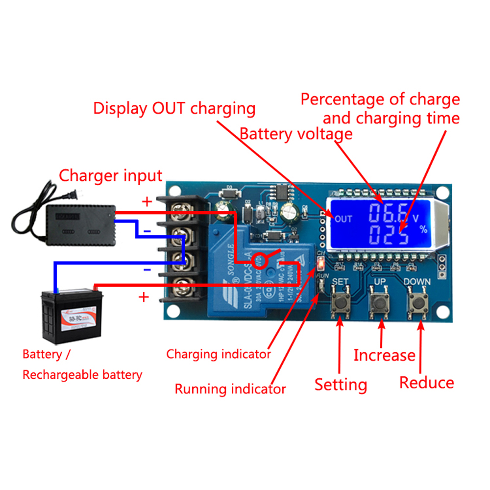 6 60v Charging Control Module 30a Lcd Display Storage Lithium Battery Charger Circuit Diagram Switch Protection Board In Integrated Circuits From Electronic