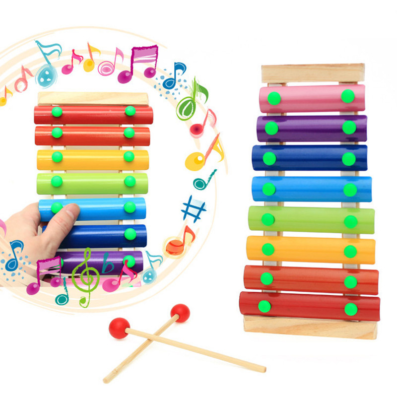 Baby Kid Musical Toys Xylophone Wisdom Development Wooden Instrument Funny US