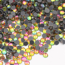 Hot sale Pink Fix Rhinestones Iron On For Clothes ss6-ss30 All color Glue back Glass Crystal AB Stone