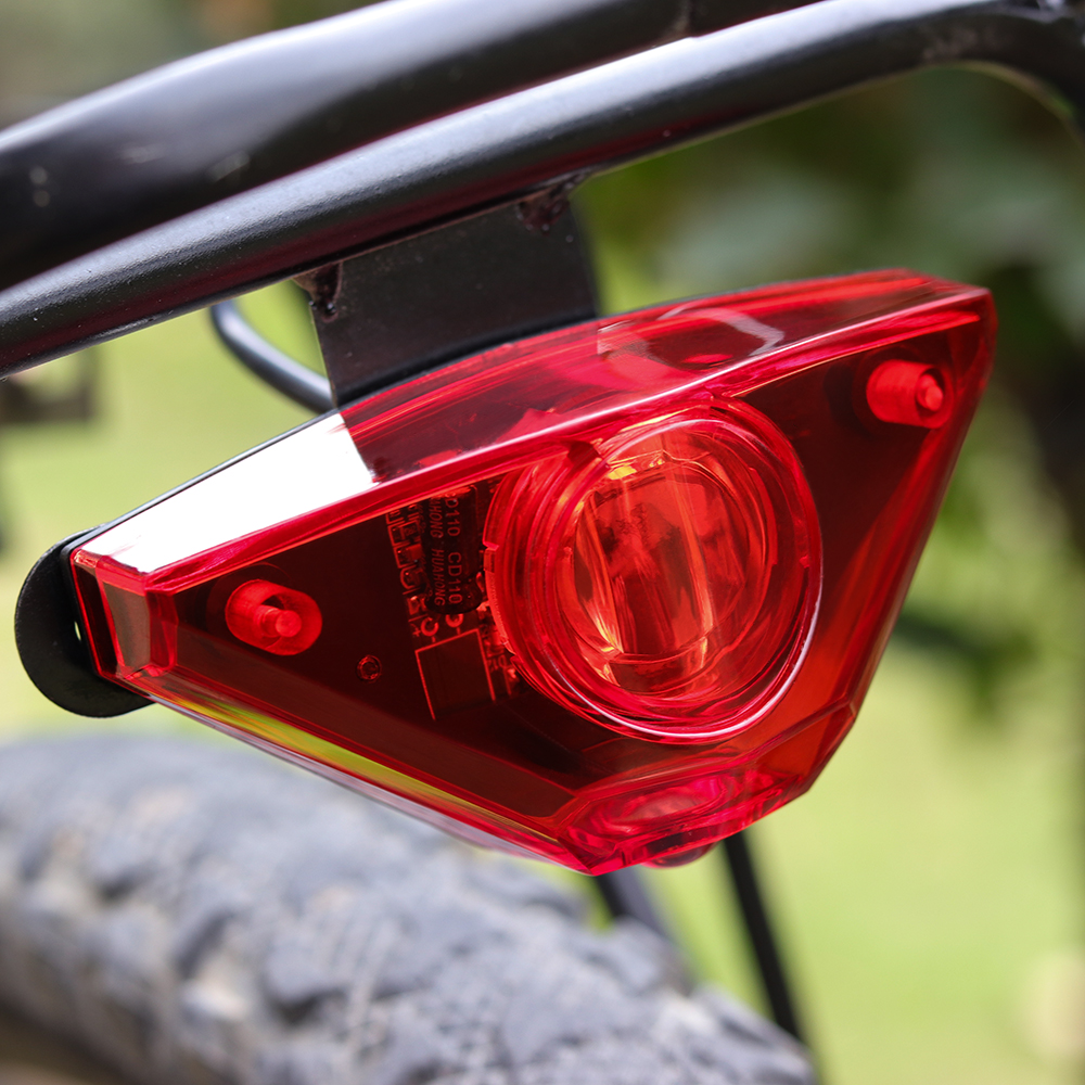 Onature Electric Bicycle Rear Light For E Bike Input DC6V 12V 18V 24V 36V 48V 60V Powerful Light For Bafang LED EBike Tail Light
